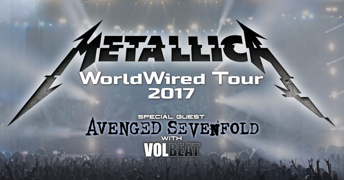 Metallica WorldWired Concert Tour Summer 2017 VIP Tickets Canada www.VIPTicketsCanada.ca