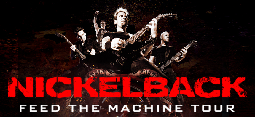 Nickelback Feed The Machine Concert Tour Summer 2017 VIP Tickets Canada www.VIPTicketsCanada.ca